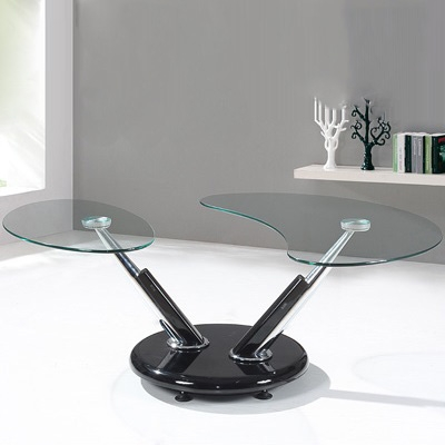 Stunning Fashionable Torino Coffee Tables With Torino Black And Clear Glass Coffee Table Robson Furniture (Image 37 of 40)