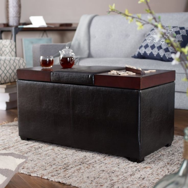 Stunning Favorite Brown Leather Ottoman Coffee Tables With Storages Pertaining To Best 25 Ottoman With Storage Ideas On Pinterest Storage Ottoman (Image 34 of 40)