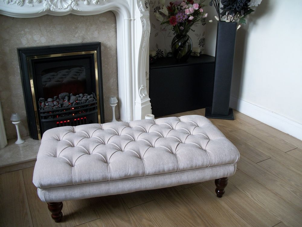 Stunning Favorite Footstool Coffee Tables Within Fabric Coffee Table Ottomans Footstools Ebay (Image 36 of 40)