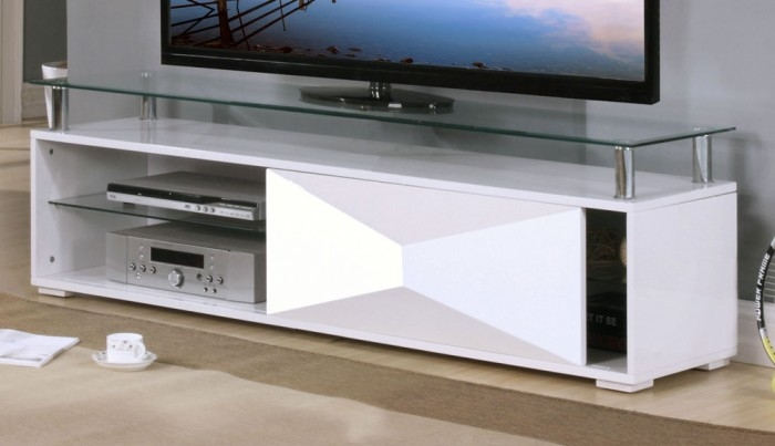 Stunning Favorite Gloss TV Stands Throughout Rowley High Gloss White Tv Stand Entertainment Units Furn On (Image 46 of 50)