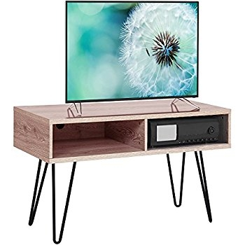 Stunning Favorite Hairpin Leg TV Stands Intended For Amazon Altra Owen 42 Retro Tv Stand Sonoma Oakgunmetal (Image 44 of 50)