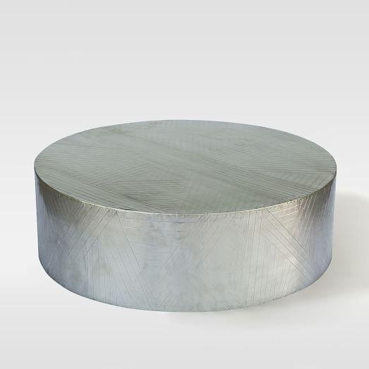 Stunning Favorite Hammered Silver Coffee Tables For Attractive Round Silver Coffee Table With Etched Metal Silver (Image 45 of 50)
