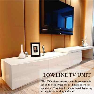 Stunning Favorite High Gloss White TV Cabinets Pertaining To New High Gloss White Tv Stand Entertainment Unit Lowline (View 26 of 50)