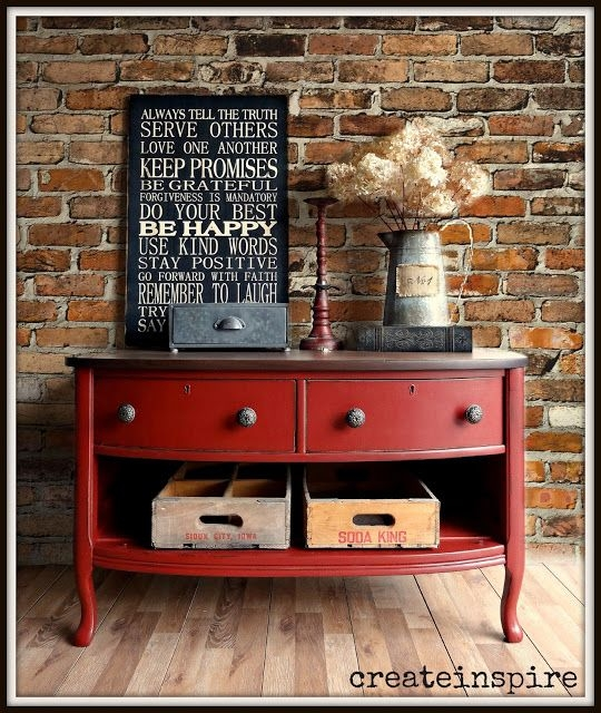 Stunning Favorite Rustic Red TV Stands Throughout Top 25 Best Red Dresser Ideas On Pinterest Red Painted (Image 41 of 50)