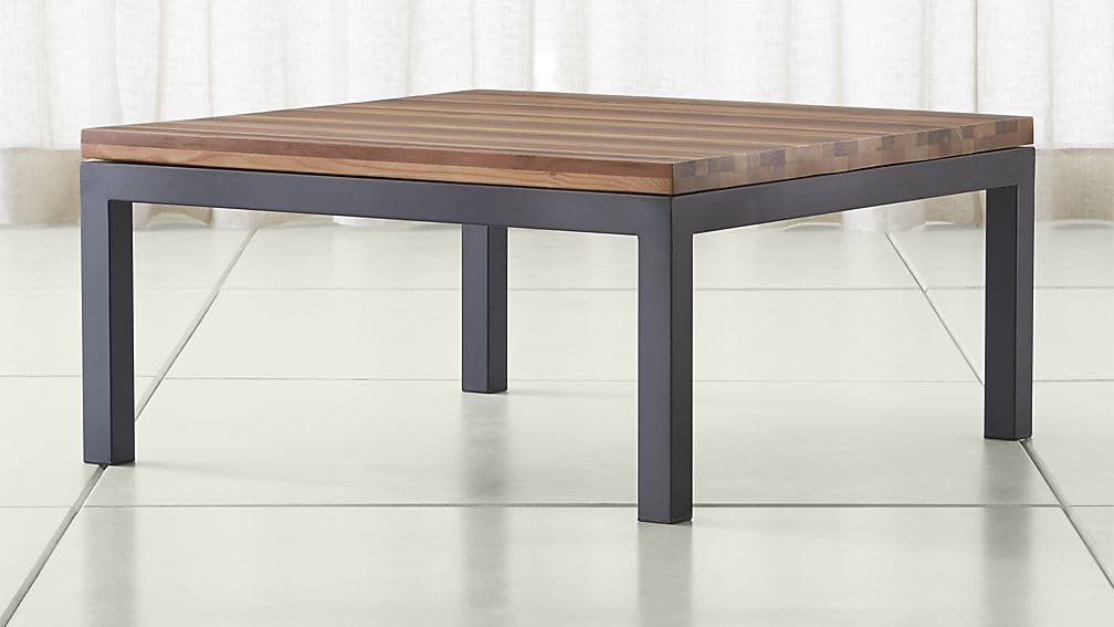 Stunning Favorite Square Dark Wood Coffee Table Pertaining To Parsons Reclaimed Wood Top Dark Steel Base 36×36 Square Coffee (Image 37 of 40)