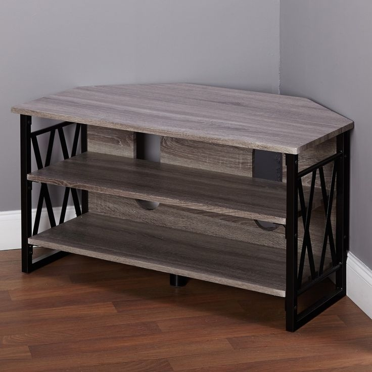 Stunning Favorite Triangle TV Stands With Best 25 Black Corner Tv Stand Ideas On Pinterest Small Corner (View 35 of 50)