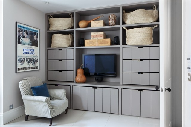 Stunning Favorite TV Cabinets With Storage Within Grey Storage Wall With Drawers And Tv Cabinet Small Spaces Ideas (View 45 of 50)