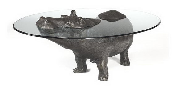 Stunning Favorite Unusual Glass Coffee Tables For Unusual Table Designs Animals Emerging Out Of Glass Top Design Swan (View 17 of 40)