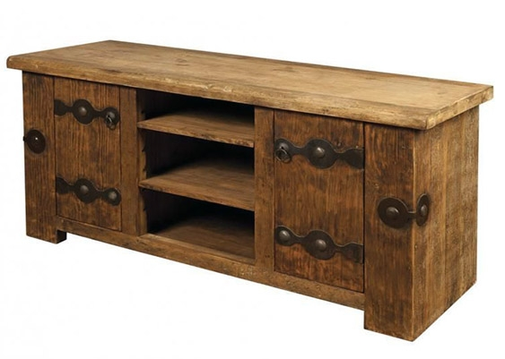 Stunning Favorite Wooden TV Stands With Doors With 35 Supurb Reclaimed Wood Tv Stands Media Consoles (Image 46 of 50)