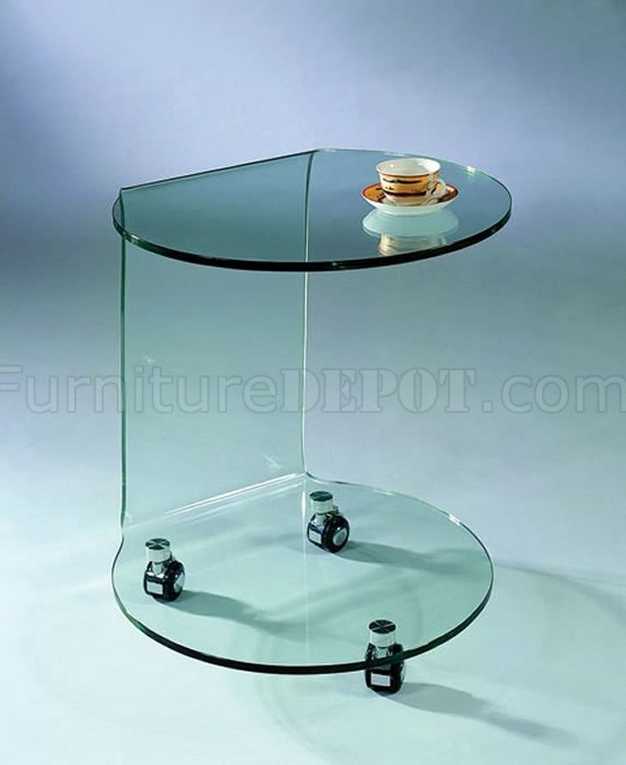 Stunning High Quality Glass Coffee Tables With Casters Within Clear Glass Artistic Portable Coffee Table Wcasters (Image 44 of 50)