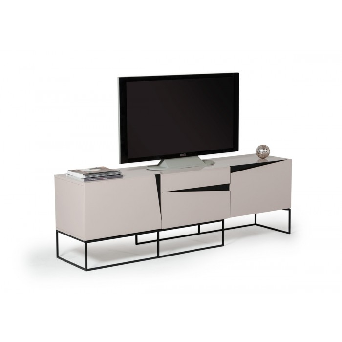 Stunning High Quality Grey TV Stands Throughout Modrest Hope Modern Grey Gloss Tv Stand (Image 44 of 50)