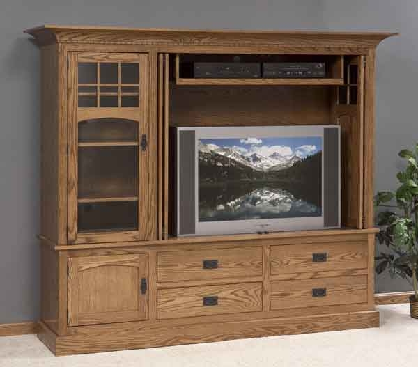 Stunning High Quality Maple TV Cabinets With Maple Tv Cabinet The Showcase Two Clear Creek Furniture (Image 41 of 50)