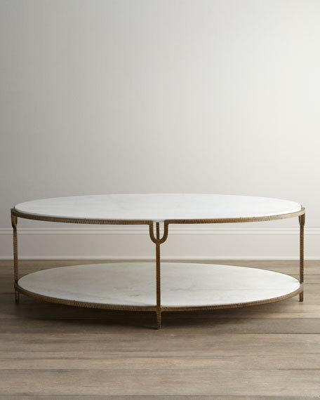 Stunning High Quality Metal Oval Coffee Tables Regarding Marble Mirrored Coffee Tables At Neiman Marcus Horchow (View 34 of 50)