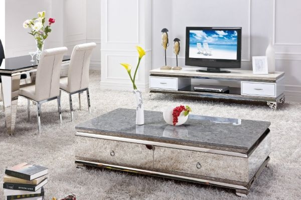 Stunning High Quality Mirrored Coffee Tables With Regard To Large Mirrored Coffee Table Vanities Decoration (Photo 44 of 50)