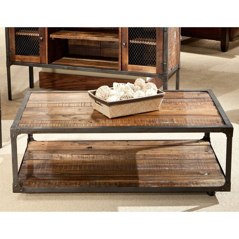 Stunning High Quality Reclaimed Wood Coffee Tables With Regard To Belham Living Edison Reclaimed Wood Coffee Table Coffee Tables (View 7 of 50)