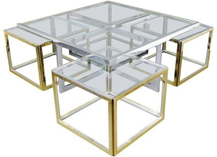 Stunning High Quality Retro Glitz Glass Coffee Tables In Glass And Metal Coffee Table Jerichomafjarproject (Photo 32 of 50)