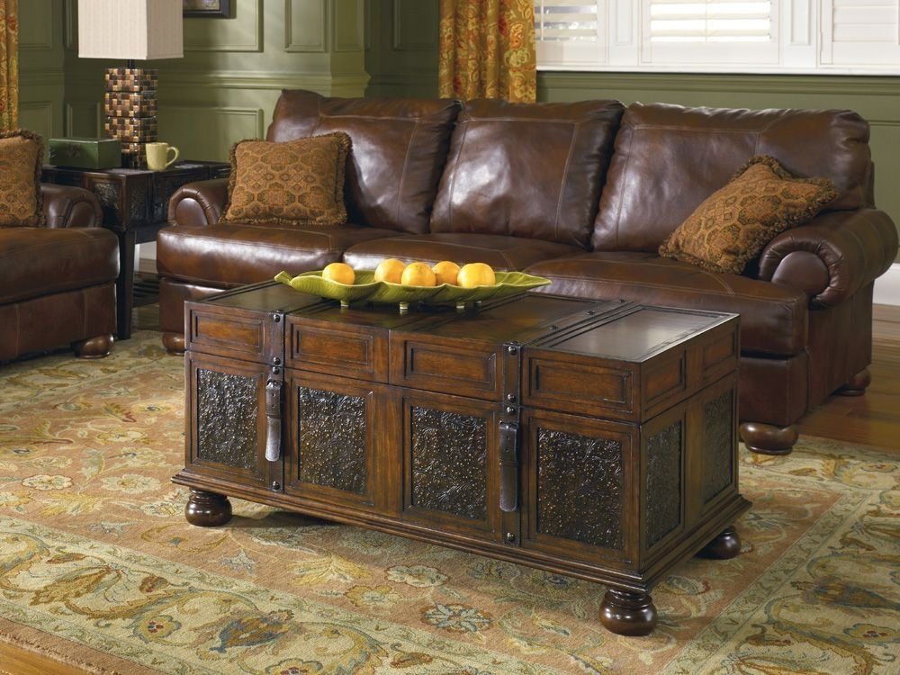 Stunning High Quality Rustic Style Coffee Tables Intended For Rustic Trunk Style Coffee Table Coffee Tables Zone Trunk (View 32 of 50)