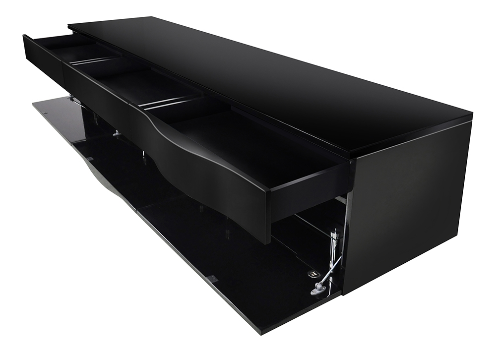 Stunning High Quality Shiny Black TV Stands In Black Gloss Tv Cabinets White Tv Unit Modern Media Cabinet Ikea (Image 46 of 50)