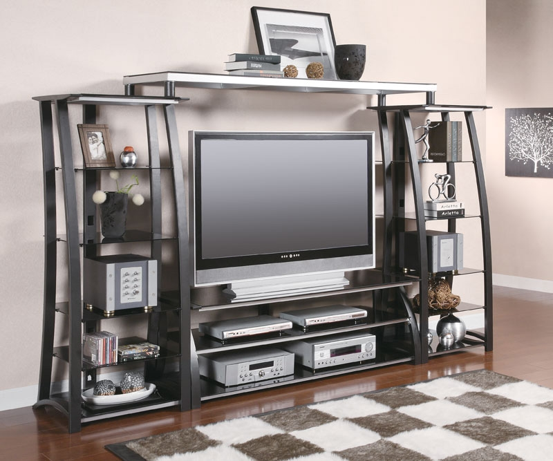 Stunning High Quality Silver TV Stands With Black And Silver Tv Stand Tv Stands (Image 39 of 50)