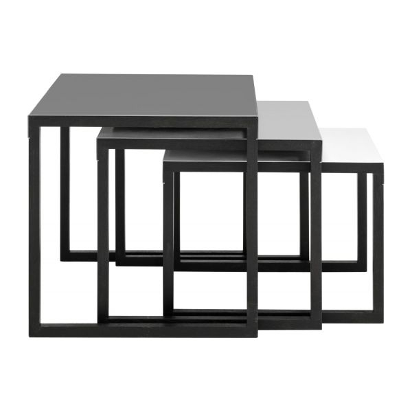Stunning High Quality Stackable Coffee Tables Regarding Kilo Accent Tables Grey Wood Metal Habitat (View 36 of 50)