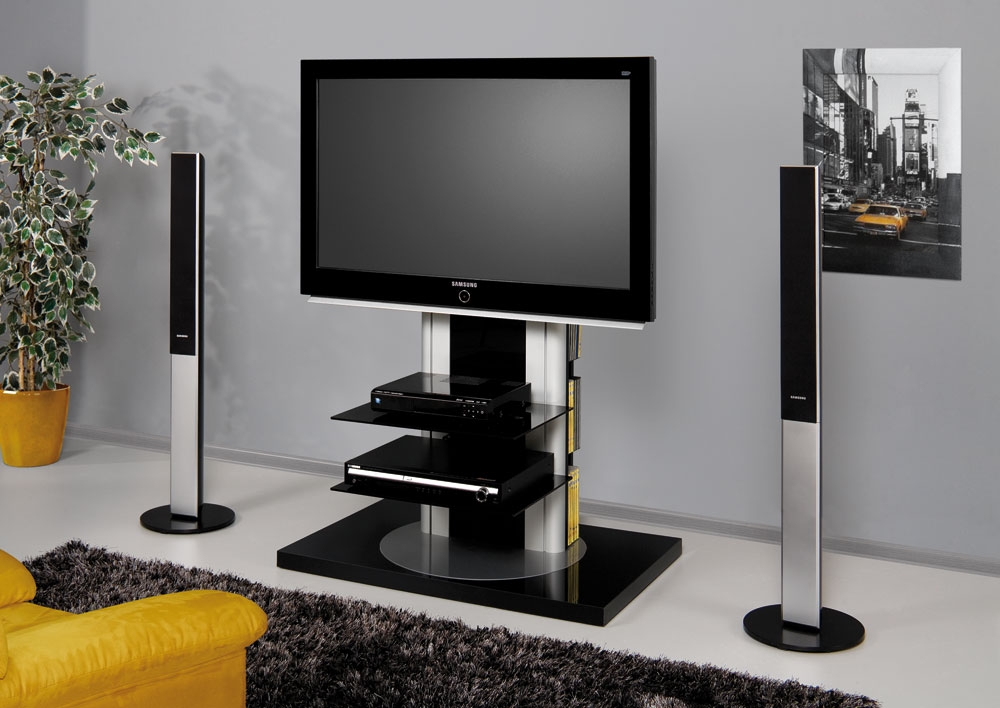 Stunning High Quality Swivel Black Glass TV Stands With Regard To Tv Stands Interesting Tv Stands With Mounts For Flat Screens (View 36 of 50)