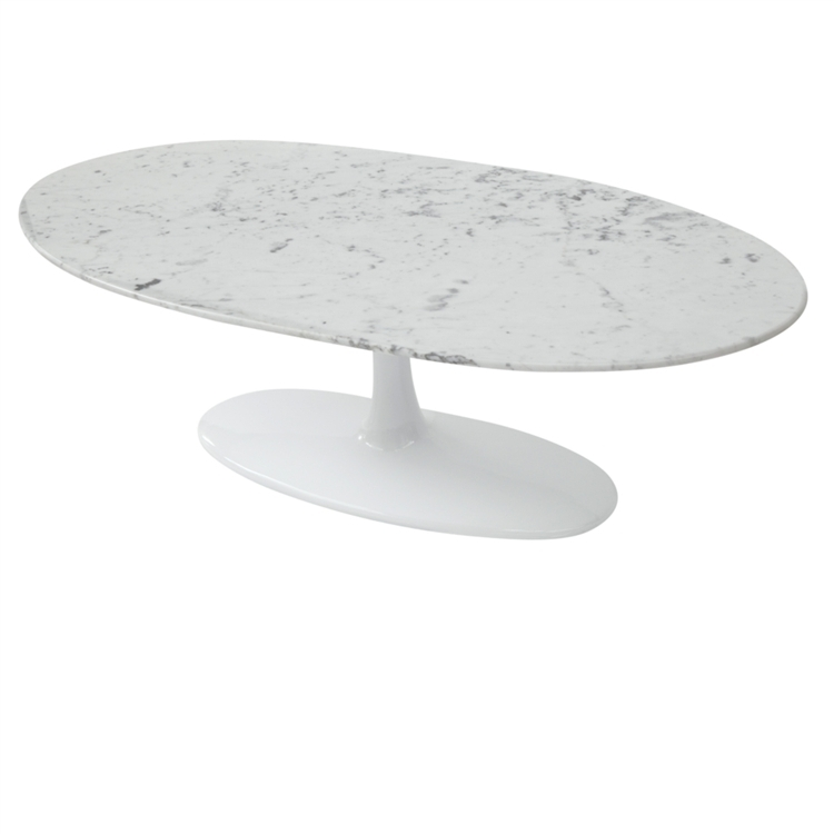 Stunning High Quality White Oval Coffee Tables With Flower Coffee Table Oval Marble Top White Fine Mod Imports (View 37 of 50)