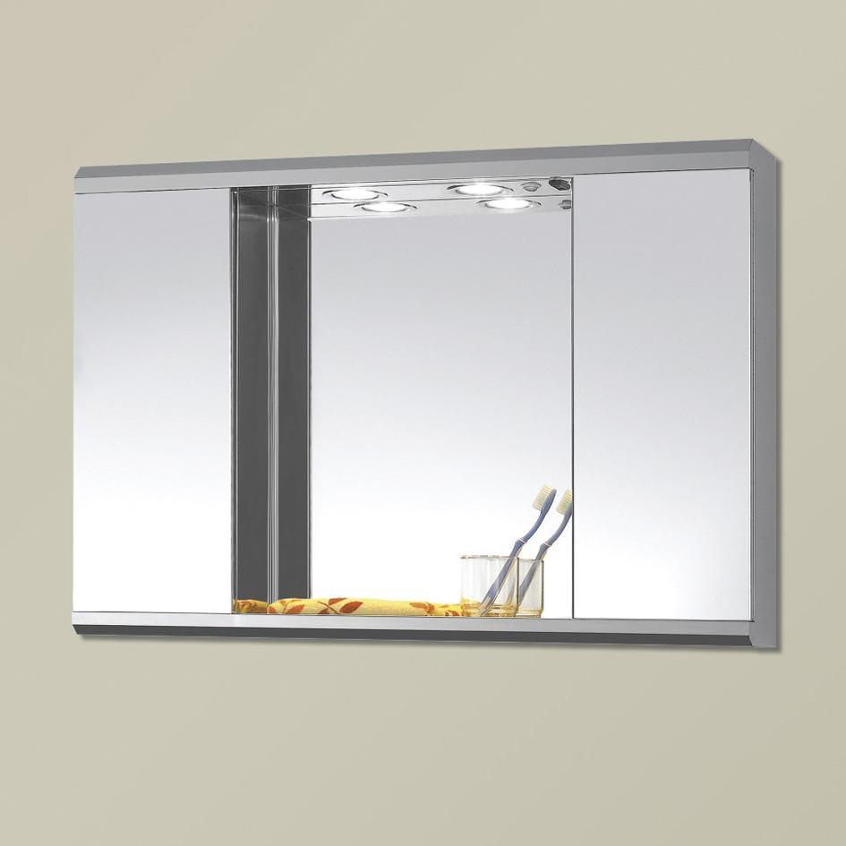 Stunning Ideas Cabinet Bathroom Mirror Mirror Bathroom Cabinets Inside Triple Wall Mirror (Image 14 of 20)