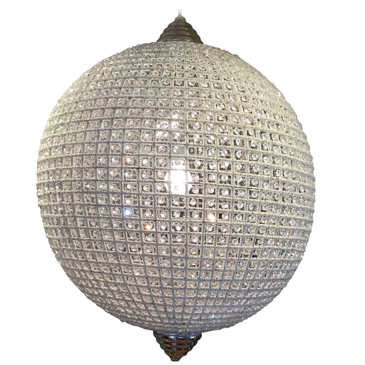 Stunning Large Crystal Ball Chandelier At 1stdibs With Regard To Crystal Ball Chandeliers (Image 24 of 25)