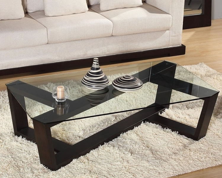Stunning Latest Black Wood And Glass Coffee Tables With Black Glass Topped Coffee Tables Eva Furniture (Image 41 of 49)