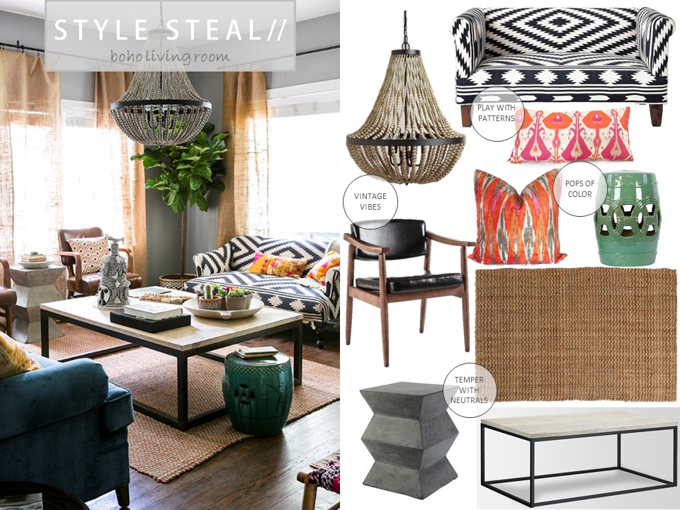 Stunning Latest Boho Coffee Tables Throughout Boho Beach Bungalow Style Steal 5 Boho Living Room (View 22 of 50)