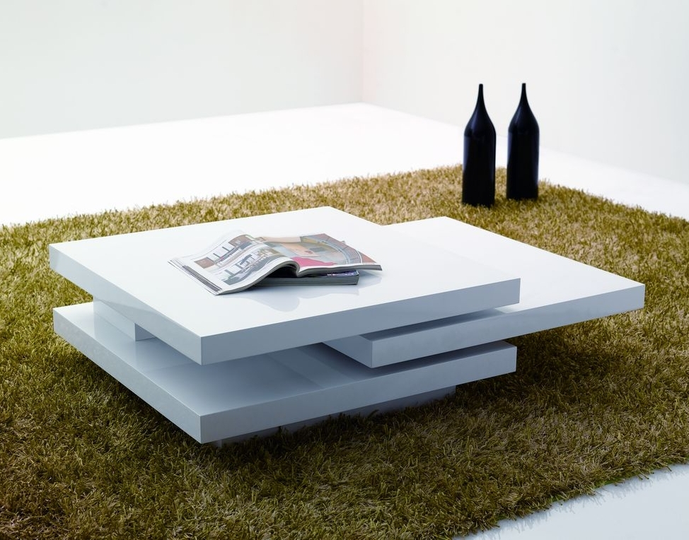 Stunning Latest Coffee Tables White High Gloss Inside Modern Coffee Table White (Image 38 of 40)