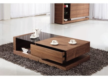 Stunning Latest Dark Wood Coffee Table Storages Within Wood Storage Coffee Table Jerichomafjarproject (View 33 of 50)