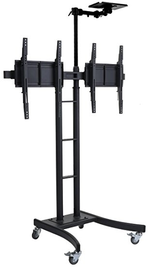 Stunning Latest Dual TV Stands Inside Amazon Dual Double Tv Stand For 24 70 Hdtvs Portable Cart (Image 45 of 50)