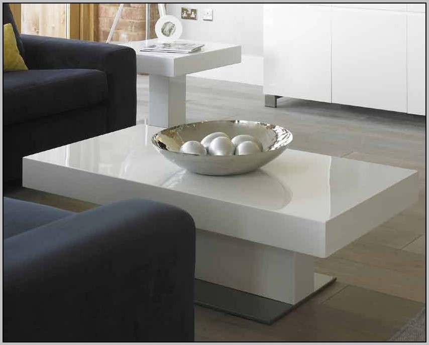 Stunning Latest High Coffee Tables Pertaining To High Gloss Coffee Table White Coffee Table Home Decorating (View 44 of 50)
