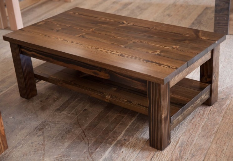Stunning Latest Large Rustic Coffee Tables Inside Furniture Unique Rustic Coffee Table For Elegant Living Room (View 48 of 50)