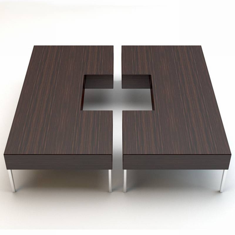 Stunning Latest Puzzle Coffee Tables With Porada Puzzle Coffee Table Cocktail Table Wooden Living (Image 35 of 40)