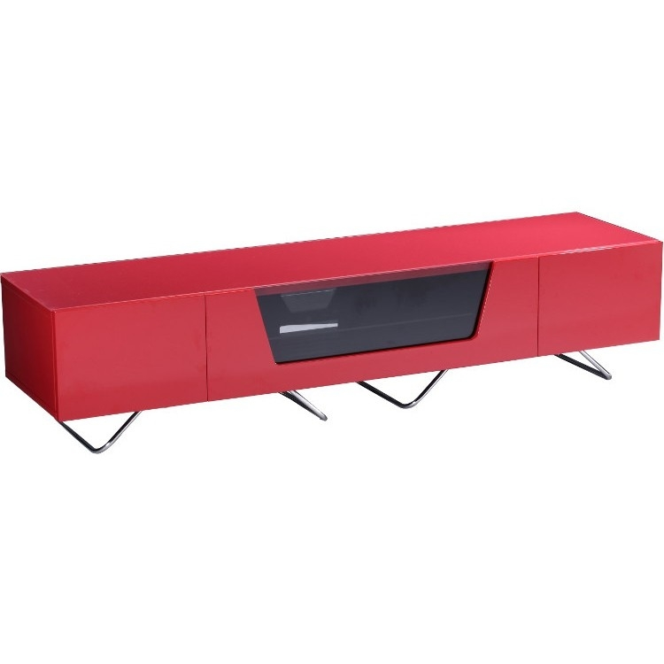 Stunning Latest Red Gloss TV Stands Within Alphason Chromium 2 Tv Stand Cro2 1600cb Red Red Gloss Tv Cabinet (View 35 of 50)