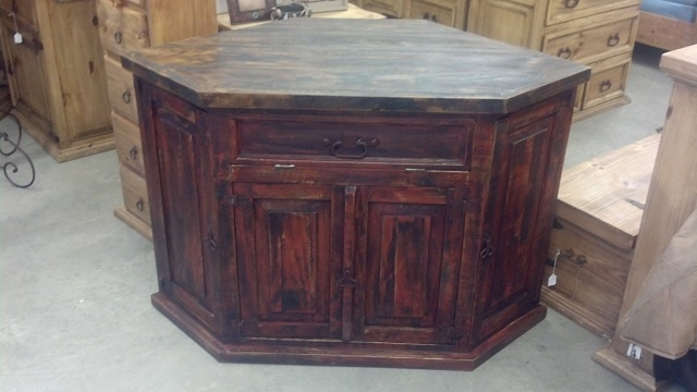 Stunning Latest Rustic Red TV Stands Pertaining To Entertainment Centers (Image 42 of 50)