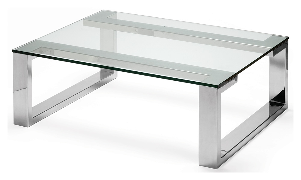 Stunning Latest Simple Glass Coffee Tables Intended For Simple Glass And Steel Coffee Table In Interior Home Design Style (Image 36 of 40)