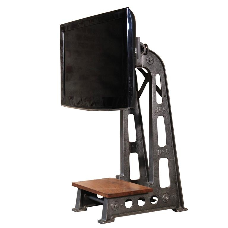 Stunning Latest Vintage TV Stands For Sale For Tv Stand Vintage Industrial Steampunk Cast Iron Steel Media Screen (Image 42 of 50)