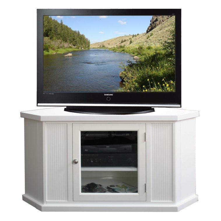 Stunning Latest White Corner TV Cabinets Within Tv Stands With Cabinet Doors (Image 41 of 50)