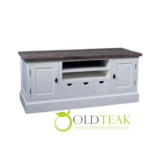 Stunning Latest White Painted TV Cabinets In Indonesia Teak Furniture White Painted Tv Cabinet Modern Top (View 47 of 50)