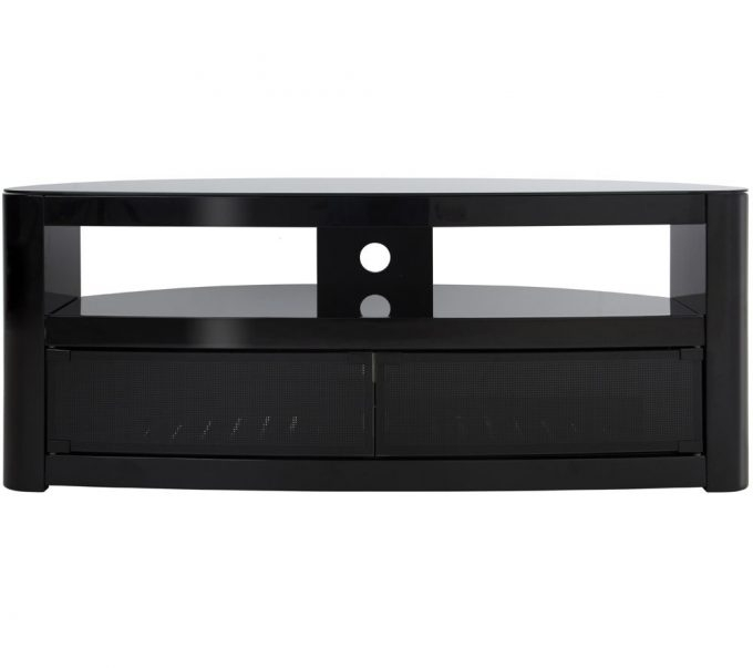 Stunning New Black TV Stands With Drawers Throughout Furniture Appealing Black Tv Stand For Home Interior Decorating (Image 46 of 50)
