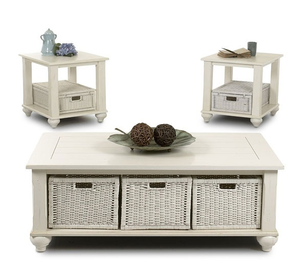 Featured Image of Coffee Table With Wicker Basket Storage