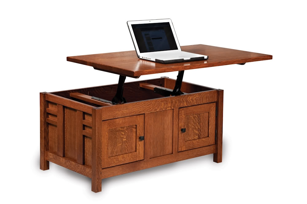 Stunning New Coffee Tables With Lift Top And Storage For Amish Mission Lift Top Storage Coffee Table Computer Occasional (Image 45 of 50)