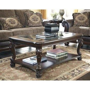 Stunning New Dark Brown Coffee Tables Regarding Amazon Ashley Furniture Signature Design Brookfield Coffee (View 18 of 50)