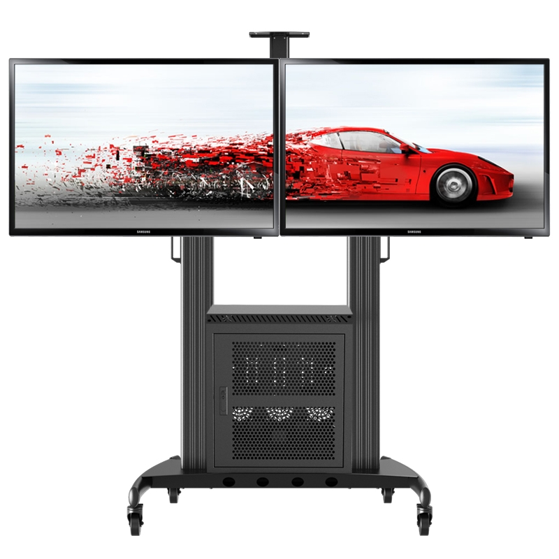 Stunning New Dual TV Stands With Cart Watch Picture More Detailed Picture About Lcd Tv Mobile (Image 46 of 50)