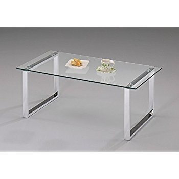 Stunning New Glass And Chrome Coffee Tables With Amazon Modern Design Chrome Finish With Glass Top Cocktail (Image 45 of 50)