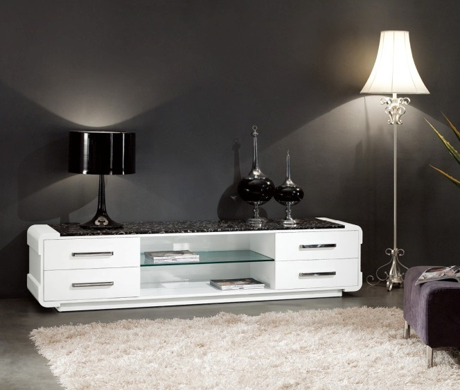 Stunning New Glossy White TV Stands Inside Tv Stands Furniture Products And Accessories (Image 42 of 50)