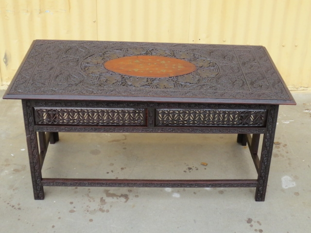 Stunning New Indian Coffee Tables In Indian Coffee Table Carved Coffeetable Vintage Furniture (Image 35 of 40)